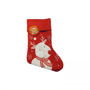 White Reindeer Stocking
